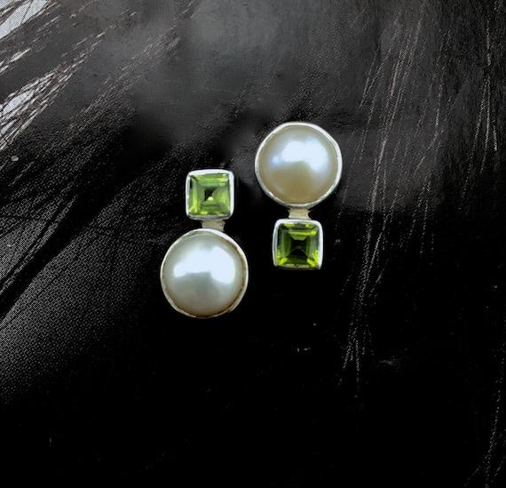 """925 Sterling Silver Natural Square Iolite Prong-Setting Nouveau Boucles d/'oreilles 0.6/"""""""