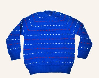 60's Blue Jumper New Old Stock British Made 2-3 Y