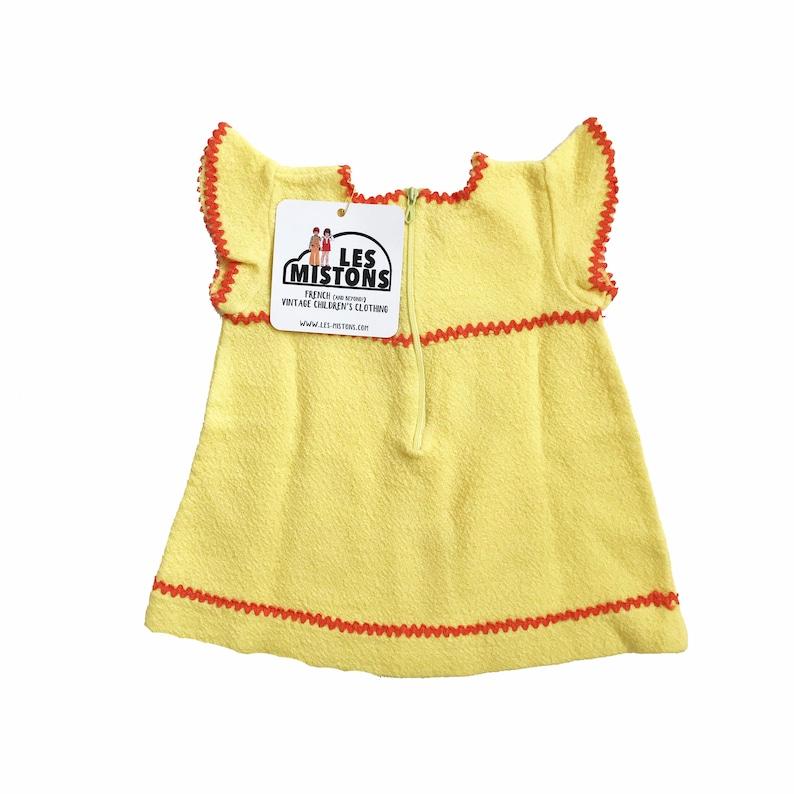 Vintage 1960s YellowOrange Boho Dress French Stock 3-6 Months
