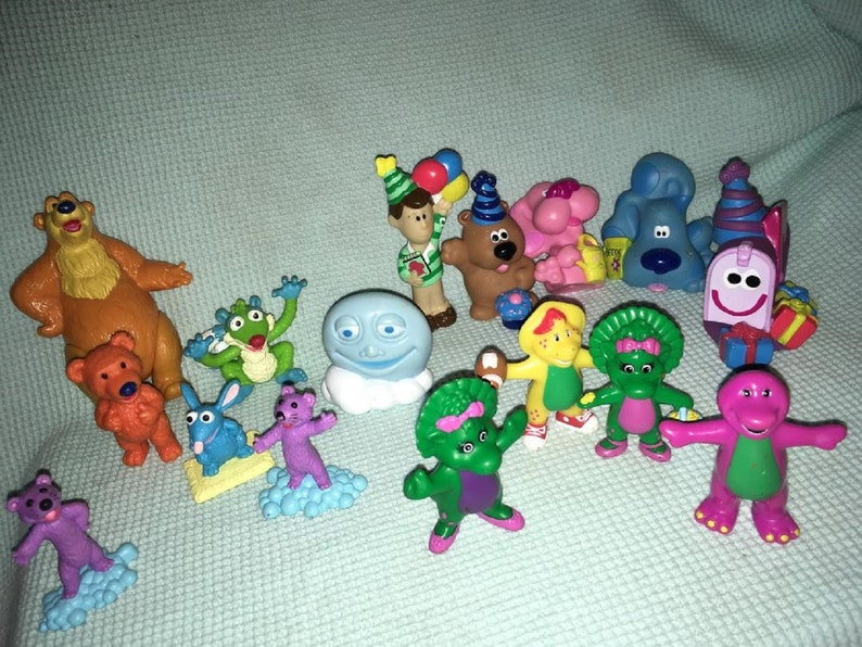 Blue Clues Figures Lot Bear in the Big Blue House Barney TV Character play  Pretend fun 1998 1999