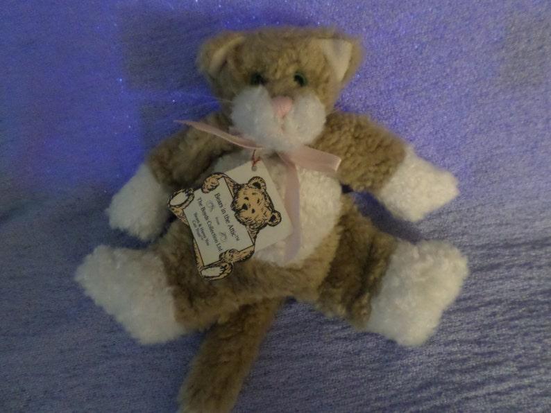 Vintage Boyds Cat plush Floppy green eyes Bears in the attic 7 NWWT