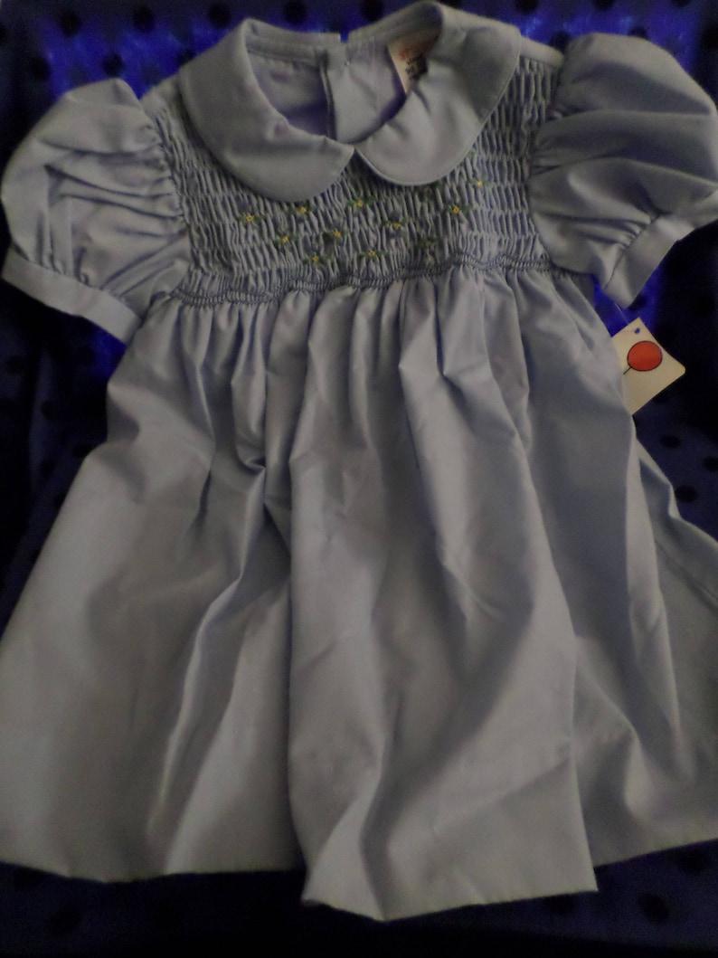 0f2efdfe6df7 Vintage Winnie the Pooh Sears Dress Baby Blue tiny yellow | Etsy