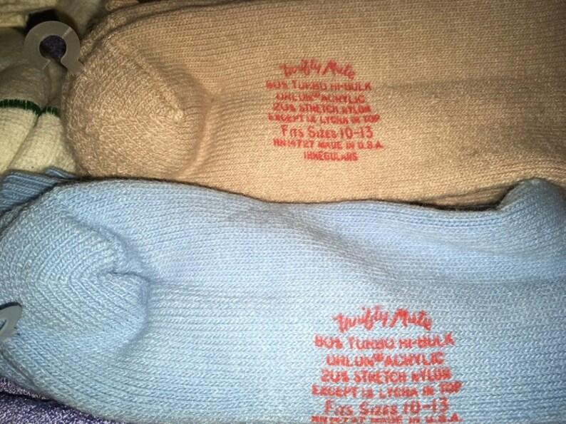 Vintage Socks Lot Mens size 10-13 Some orlon sport dress Soft New 70/'s 80/'s