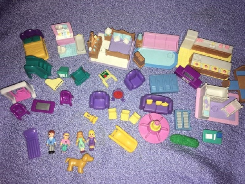 Precious Places Fisher Price Polly miniature little dolls house furniture Blue Box tiny Dreams LGTI rides Flowers Key dog Houses vacation