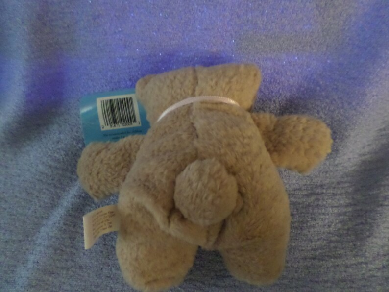 Vintage Fiesta Bear plush Bear with heart on a string Love NWTS Dated 1995 little  5.5