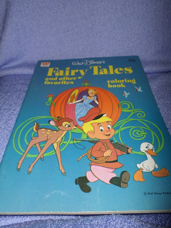 Vintage Fairy Tales Disney Coloring Book Other Favorites Etsy