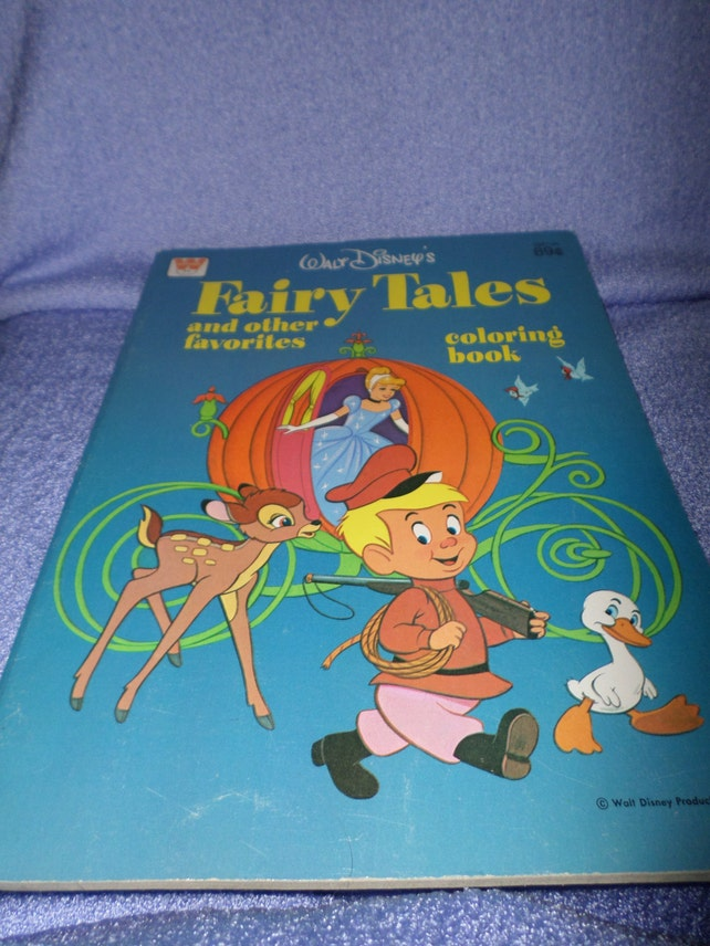 Vintage Fairy Tales Disney Coloring Book other favorites | Etsy