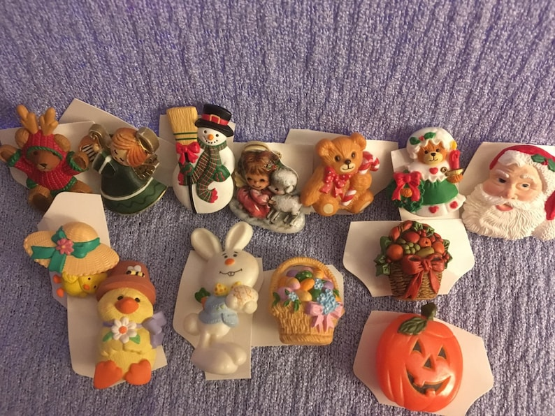 Vintage Hallmark Pin Lot Christmas Easter Ag Avon Halloween Etsy