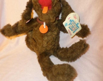 """Puzzle Place Dog Nuzzle plush by RUSS NWTS  11""""    1995"""