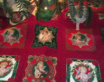 Muscial Angels Christmas Tree Skirt  Size 44 round