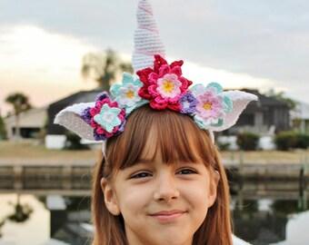 Crochet Unicorn Horn Headband PATTERN, Unicorn crochet pattern, Crochet headband pattern, Crochet Headband tutorial, PDF Instant Download