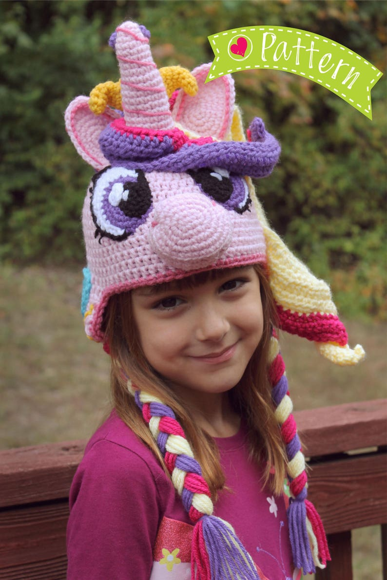 My Little Pony Costume Princess Cadence Crochet Hat Pdf Etsy