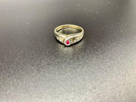 Looped Ruby *** Handmade Ruby Ring Sterling Silve… - image 4