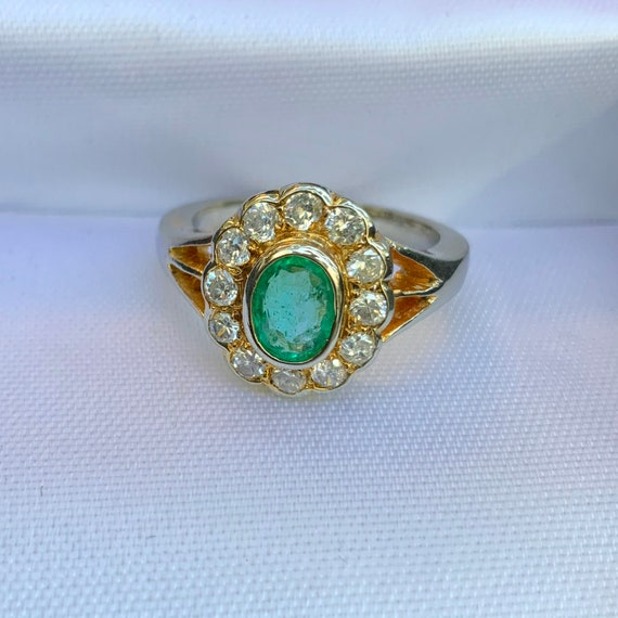 "Natural emerald ring *** ""Mellow Green"" *** Silver"