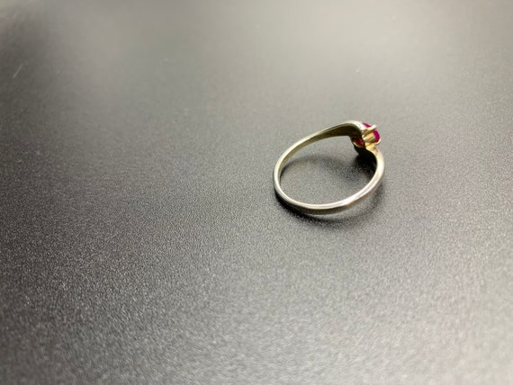 Single Ruby *** Vintage Ruby Ring in 925 Silver *… - image 6