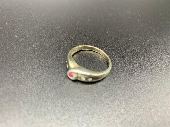 Looped Ruby *** Handmade Ruby Ring Sterling Silve… - image 6