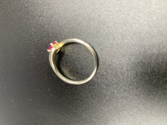 Single Ruby *** Vintage Ruby Ring in 925 Silver *… - image 5