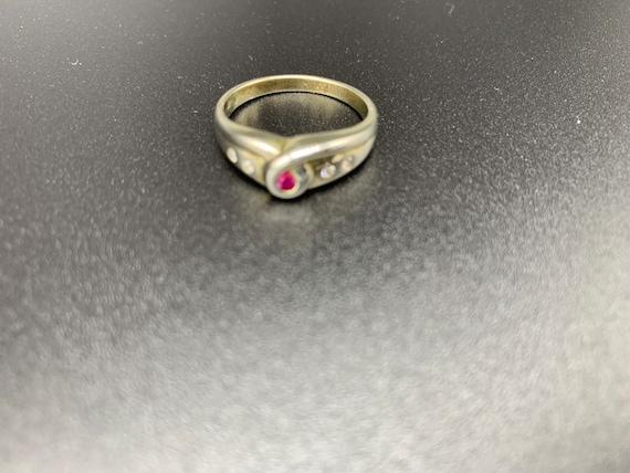 Looped Ruby *** Handmade Ruby Ring Sterling Silve… - image 5