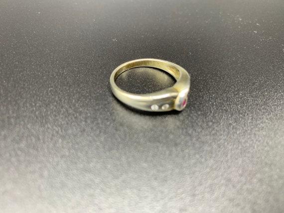 Looped Ruby *** Handmade Ruby Ring Sterling Silve… - image 8