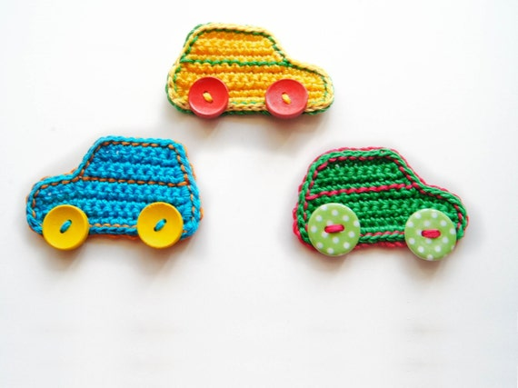 Crochet Pattern Car Applique In 2 Different Sizes Instant Etsy