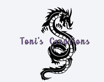 Trible dragon snake SVG file