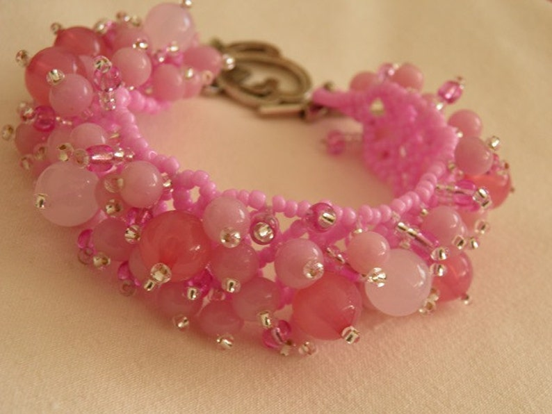 Gift for her Handmade bracelet Elegant bracelet MADE TO ORDER. Bracelet \u201cSakura\u201d Seed beads bracelet Beaded bracelet