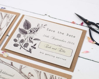 Rustic Woodland, Save the Date Cards, Wedding, Rustic Wedding, Woodland Wedding, Nature Wedding, Woodland Animals, Autumn Wedding, Country