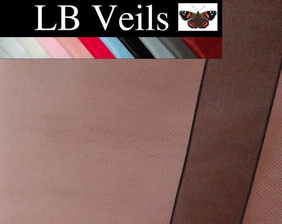 Black Ribbon Edge 1 Tier Veil Any Colour Wedding Bridal LB Veils LBV183 UK