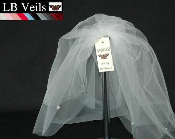 2 Tier Crystal Flower LB Veils 39.s UK