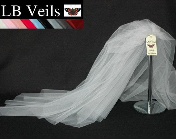 2 Tier Plain LB Veils 156 UK