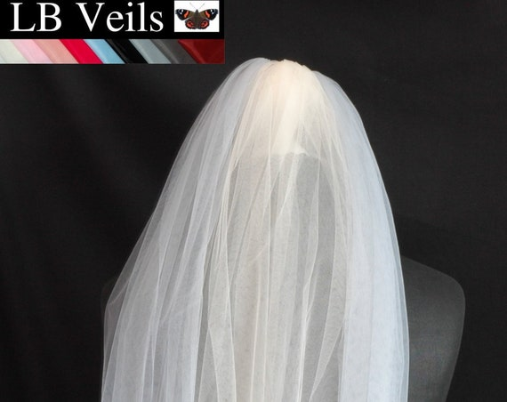 Silver Grey and Champagne Crystal Wedding Veil LB Veils 177 UK