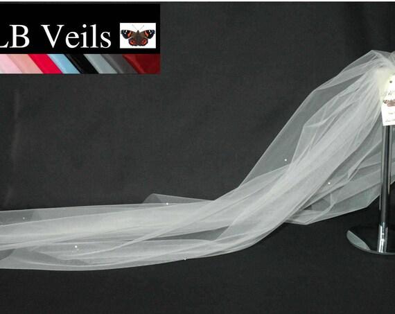 1 Single Tier Crystal Wedding Veil LB Veils 158 UK