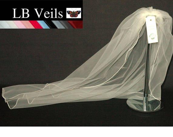 1 Single Tier Plain Wedding Veil LB Veils LBV143 UK