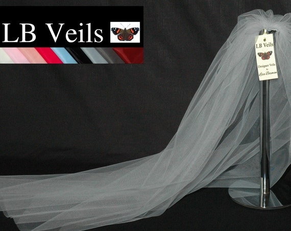 1 Tier Plain Silver Grey Wedding Veil LB Veils LBV162 UK