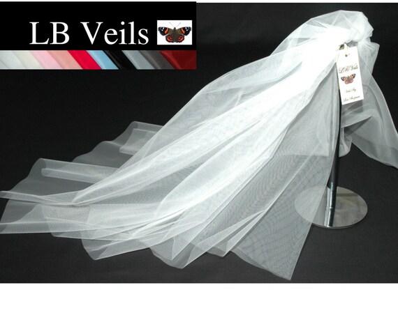 2 Tier Plain Wedding Veil LB Veils 156 UK