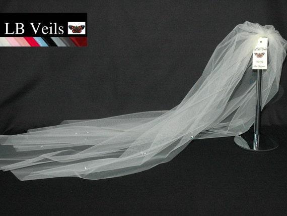 1 Single Tier Crystal Flower LB Veils 37.s UK