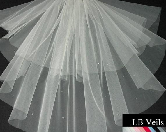 2 Tier Crystal LB Veils 151 UK