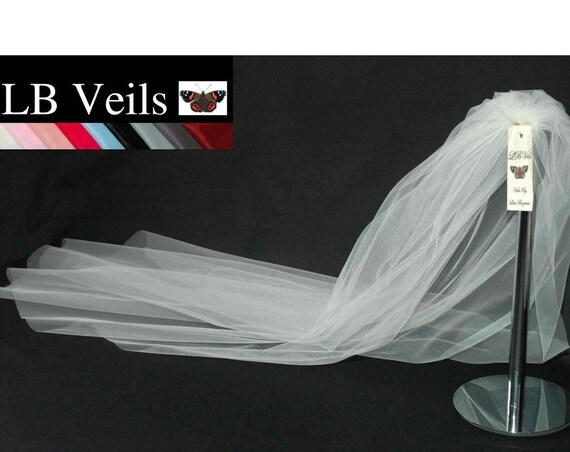 1 Tier Plain Wedding Veil LB Veils LBV162 UK