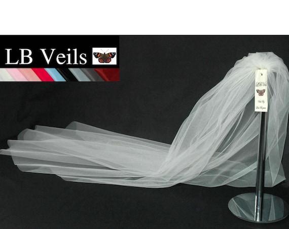 1 Single Tier Plain LB Veils 162 UK