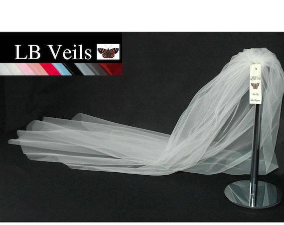 White Wedding Veil 1 Single Tier Plain LB Veils LBV162 UK
