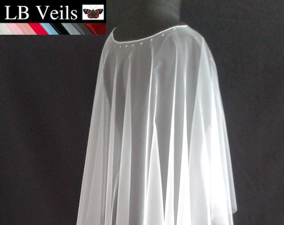 Poncho Veil Wedding Crystal Any Colour  LB Veils LBV186 UK