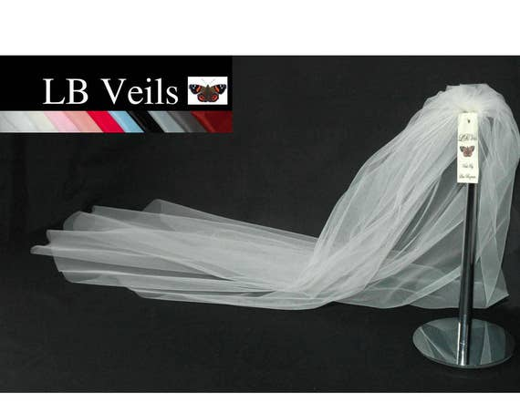 1 Single Tier Plain Wedding Veil LB Veils LBV162 UK