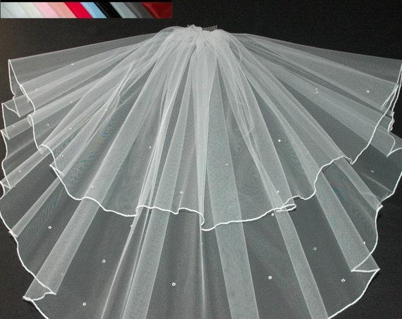 2 Tier Crystal LB Veils 145 UK