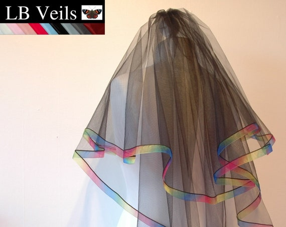2 Tier Rainbow Edge LB Veils LBV178 UK
