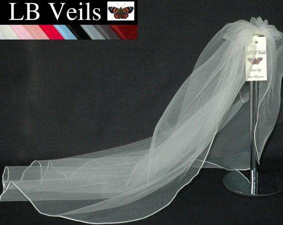 1 Single Tier Plain LB Veils 143 UK