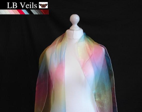 Rainbow Scarf Sash LB Veils LBV182 UK