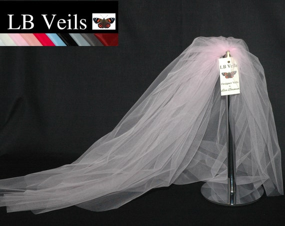 2 Tier Plain Soft Pink Bouffant LB Veils LBV161 UK
