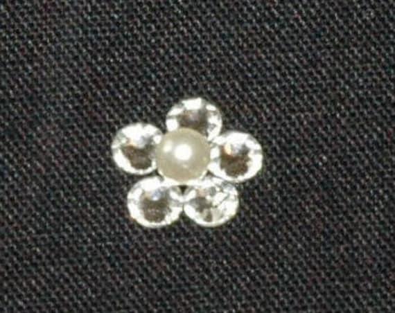 1 Single Tier Crystal Flower LB Veils 38.s UK
