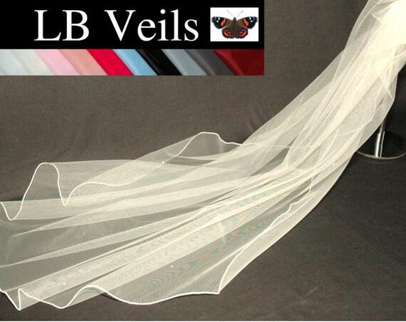 1 Tier Crystal LB Veils 144 UK