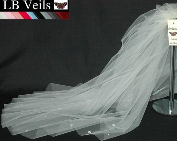 2 Tier Crystal Flower LB Veils 36.s UK
